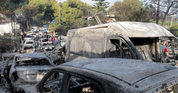 Jedną z przyczyn tak dużej liczby ofiar pożaru szalejącego na wschód od Aten był fakt, że służby ratunkowe na początku skoncentrowały się na walce z ogniem w innej części Attyki - powiedziała mieszkająca w Atenach dziennikarka Anna Leonhard-Benaki. W środę rano prawie wszystkie pożary były już pod kontrolą. Najnowsze dane greckiej straży pożarnej mówią o 79 ofiarach śmiertelnych. Rannych zostało 187 osób, w tym 23 dzieci. Nieznana jest liczba zaginionych. Wśród zabitych są całe rodziny z dziećmi. W wyniku pożarów zginęło między innymi dwoje Polaków - zatonęła łódź, na której była matka z synem po ewakuacji z hotelu na terenach zagrożonych pożarem.