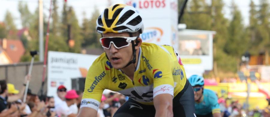 Michał Kwiatkowski (Sky) umocnił się na pozycji lidera wyścigu kolarskiego Tour de Pologne, zajmując trzecie miejsce na mecie szóstego etapu w Bukowinie Tatrzańskiej. Wygrał Austriak Georg Preidler (Groupama-FDJ).