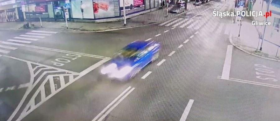 Wczoraj późnym wieczorem na ul. Zwycięstwa w Gliwicach doszło do potrącenia rowerzysty. Policja postanowiła opublikować nagranie wideo z tego incydentu.