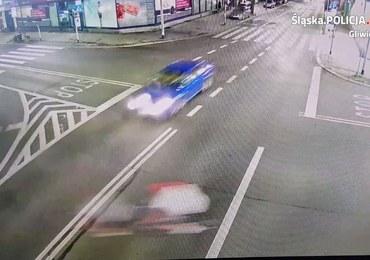 """Groźny wypadek w Gliwicach. Rowerzysta pędził """"pod prąd"""""""