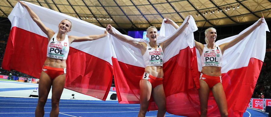 Trzy złote medale zdobyli reprezentanci Polski w sobotę, w szóstym dniu lekkoatletycznych mistrzostw Europy w Berlinie i z sześcioma złotymi krążkami objęli prowadzenie w tabeli.