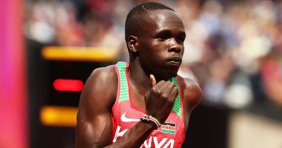 Kenijski lekkoatleta Kipyegon Bett, brązowy medalista ubiegłorocznych mistrzostw świata w Londynie w biegu na 800 m, został tymczasowo zawieszony za unikanie bądź odmowę poddania się badaniom antydopingowym.