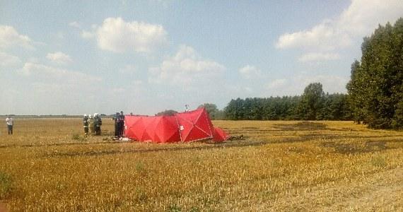 Katastrofa awionetki w Podrzewiu koło Szamotuł w Wielkopolsce. Nie żyje 44-letni pilot. Maszyna runęła na ziemię i niemal natychmiast stanęła w płomieniach.