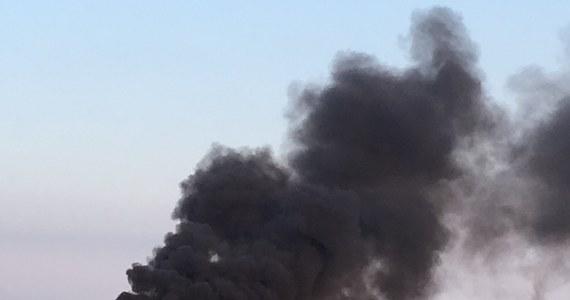 W Dąbrówce Wielkopolskiej w województwie lubuskim doszło do pożaru wysypiska.