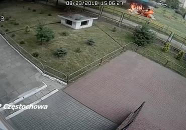 Pożar na placu zabaw w Częstochowie. Policja szuka świadków