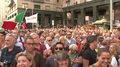 Protesty we Włoszech podczas wizyty Orbana