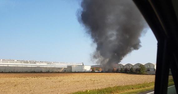 Duży pożar w Gotartowie koło Kluczborka na Opolszczyźnie. Palił się 15-metrowej wysokości silos z korą drzewną na terenie składowiska odpadów.