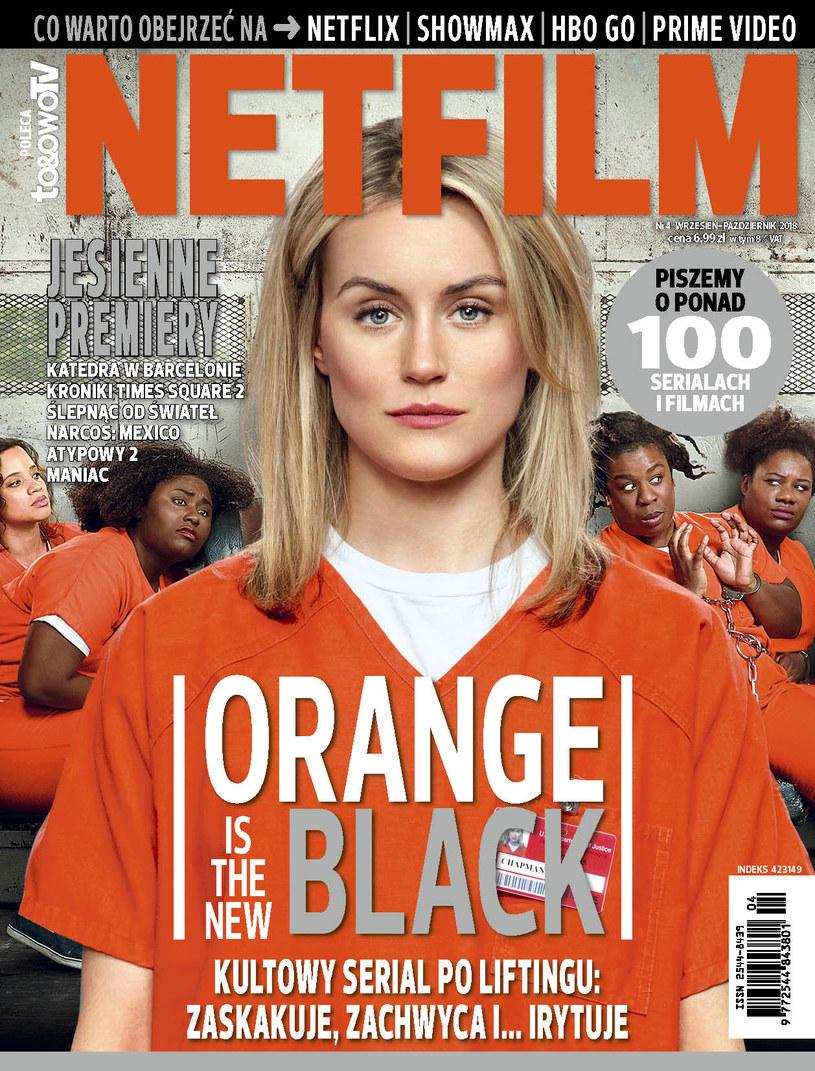 """W czwartym numerze magazynu """"Netfilm"""" (w sprzedaży od 4 września) znajdziemy zapowiedzi, recenzje i opisy ponad 100 filmów i seriali dostępnych w ofercie serwisów Netflix, Showmax, HBO GO i Prime Video."""