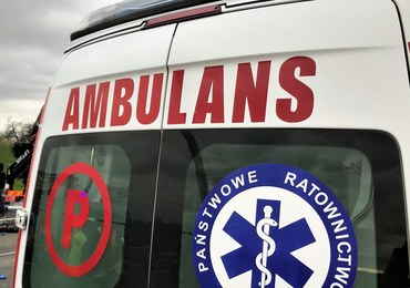 Wypadek gimbusa na Podlasiu. Zablokowały się hamulce