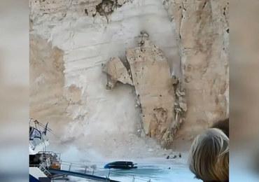Klif osunął się na greckiej plaży. Wśród rannych są turyści