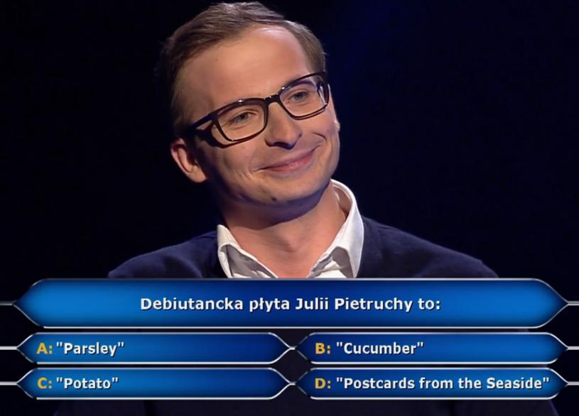 """Jak w konkursie na """"zięcia roku"""" wypadł Jacek Piątkowski, który startował w """"Milionerach""""?"""