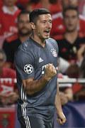 LM: Benfica - Bayern 0-2. Robert Lewandowski w dziesiątce najlepszych strzelców