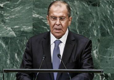 """Ławrow w ONZ: Oskarżenia Rosji o mieszanie się w sprawy innych państw """"bezpodstawne"""""""