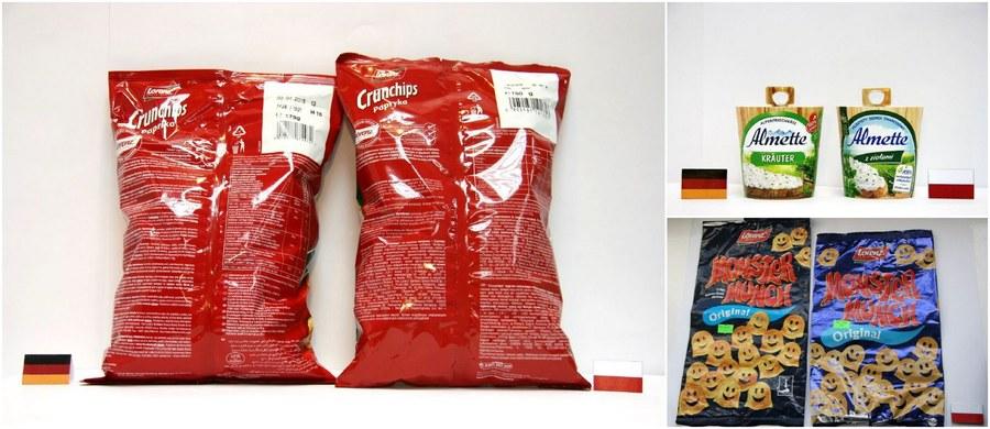Zagraniczne jedzenie w polskich sklepach często ma gorszą jakość niż w zachodnich. Urząd Ochrony Konkurencji i Konsumentów razem z Inspekcją Handlową sprawdziły różnice między tymi samymi produktami spożywczymi sprzedawanymi w Polsce i w Niemczech, Francji, Włoszech oraz Hiszpanii. Na 101 sprawdzonych produktów, aż 12 zawierało znaczące różnice.