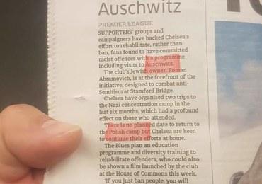 """Zamiast grzywny """"wycieczka"""" kibiców do Auschwitz. Przy okazji media mówią o """"polskim obozie"""""""