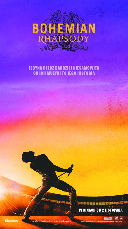 """2 listopada na ekrany kin wejdzie film """"Bohemian Rhapsody"""" opowiadający historię grupy Queen. W czwartek 25 października przedpremierowe pokazy odbędą się w sześciu miastach w Polsce."""