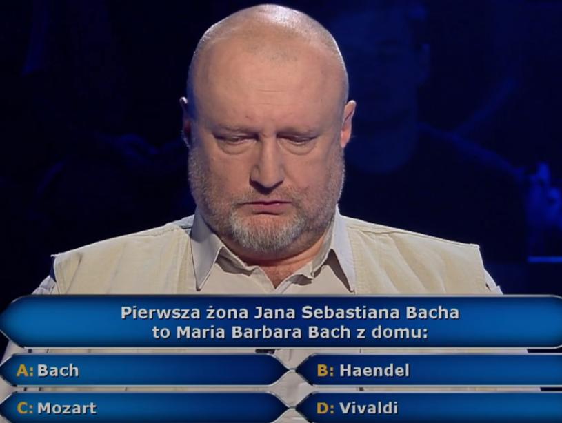 """""""Tak podejrzewałem"""" - stwierdził już po ujawnieniu prawidłowej odpowiedzi w """"Milionerach"""" Leszek Stundis. Ile wygrał w popularnym programie TVN?"""