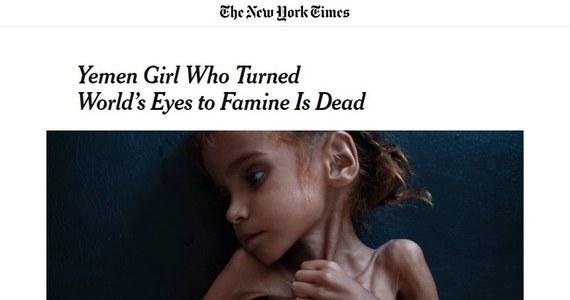 Zmarła 7-letnia Amal, której zdjęcie stało się międzynarodowym symbolem głodu w Jemenie.