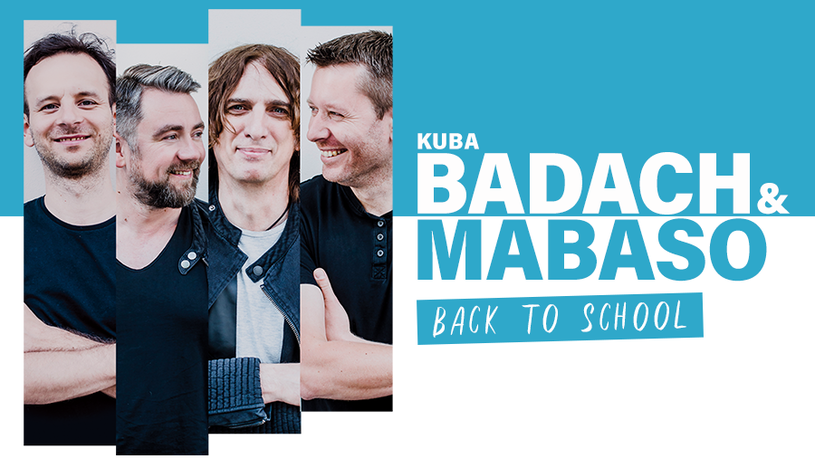 """Kuba Badach i MaBaSo łączą siły i ruszają we wspólną trasę koncertową pod hasłem """"Back to School""""."""