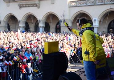 Śpiewaliśmy biało-czerwone przeboje na Rynku Głównym w Krakowie
