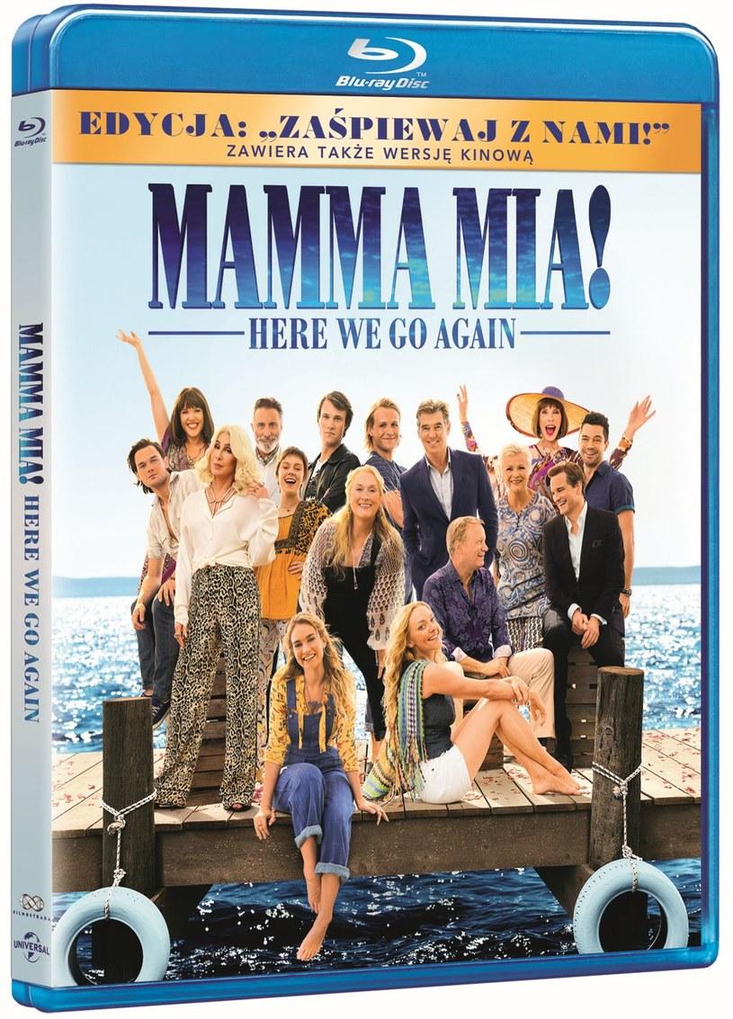 """Film """"Mamma Mia! Here We Go Again"""", kontynuacja przebojowej produkcji """"Mamma Mia!"""" z 2008 roku z piosenkami zespołu Abba, dostępny będzie na Blu-ray, DVD i 4K Ultra HD od 29 listopada."""