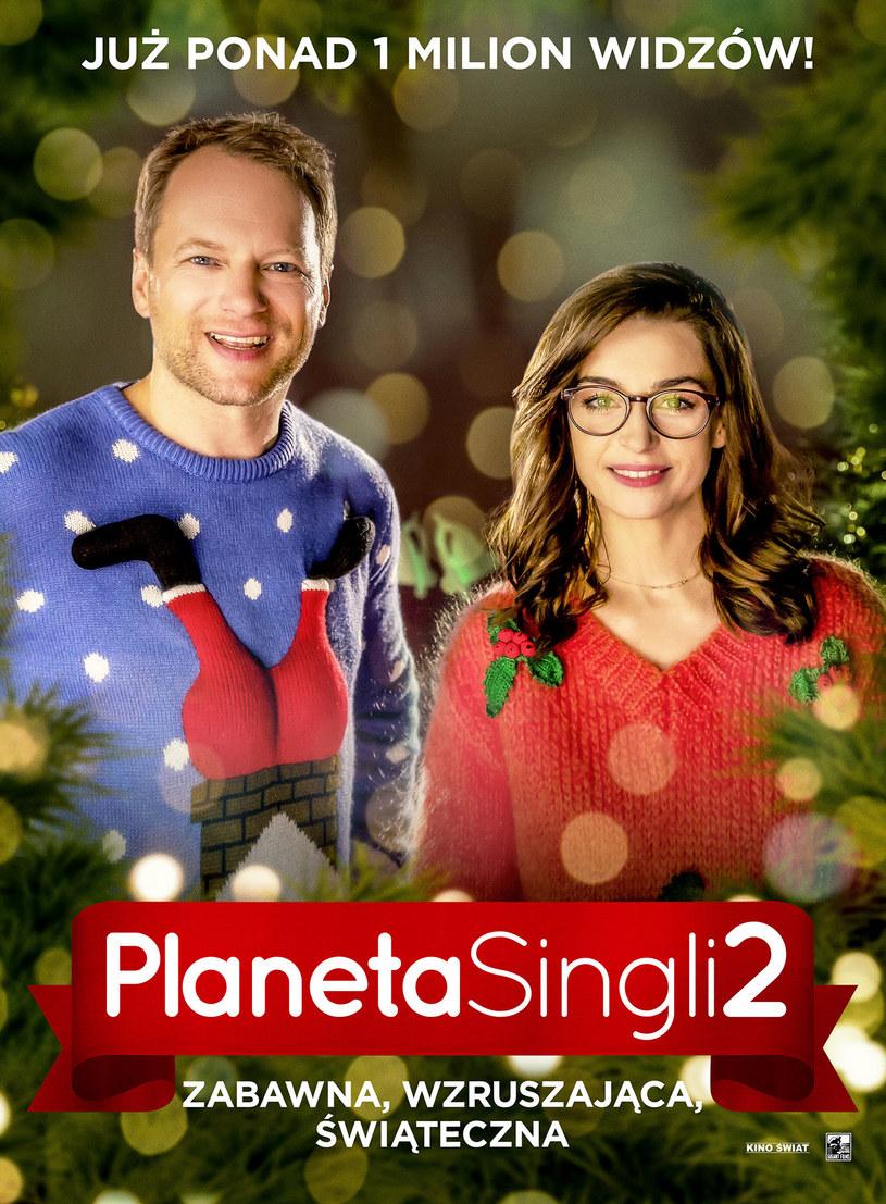 """Już ponad milion widzów obejrzało """"Planetę Singli 2""""! Wzruszająca i zabawna komedia podbija serca widzów i krytyków."""