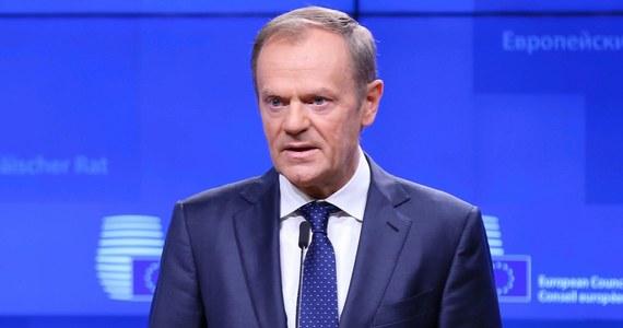 Projekt deklaracji politycznej na temat przyszłych relacji między UE i Wielką Brytanią po wyjściu tego kraju ze Wspólnoty został uzgodniony na poziomie negocjatorów i wstępnie poparty na poziomie politycznym - poinformował szef Rady Europejskiej Donald Tusk.