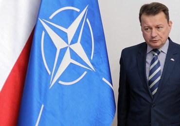 Szef MON: Służby nie raportują zwiększenia poziomu zagrożenia dla Polski