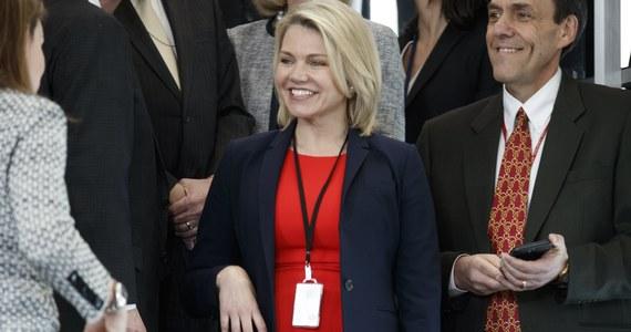 Rrzeczniczka Departamentu Stanu USA Heather Nauert została mianowana w czwartek przez prezydenta Donalda Trumpa na ambasador Stanów Zjednoczonych przy ONZ. Zastąpi Nikki Haley, która w październiku ogłosiła, że zrezygnuje z tego stanowiska pod koniec bieżącego roku.