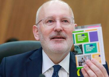Kolegium komisarzy UE poparło Timmermansa ws. Polski