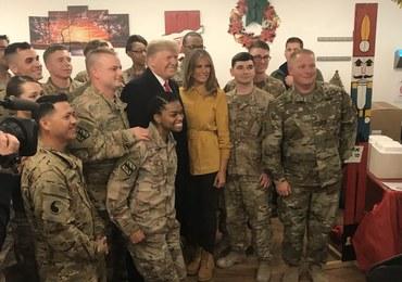 """Niespodziewana wizyta Trumpa w Iraku. """"Nie planuję wycofywania stąd sił USA"""""""