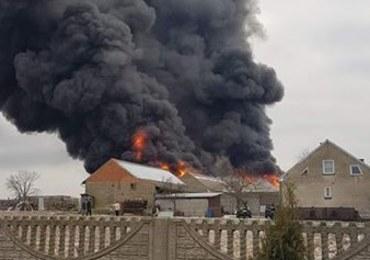 Wielkopolskie: Duży pożar zakładu stolarskiego