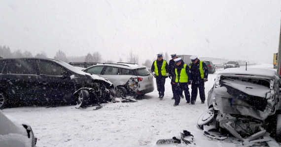 Snow and glazed paralyzed traffic on highways in Poland