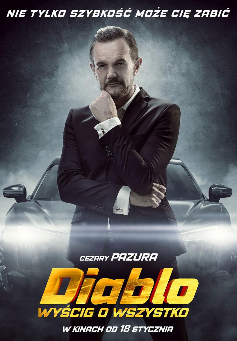 """Premiera filmu sensacyjnego """"Diablo. Wyścig o wszystko"""" już 18 stycznia 2019 roku. Na chwilę przed wejściem filmu do kin dystrybutor przedstawia dwa nowe plakaty, na których pojawiają się bohaterowie grani przez Rafała Mohra i Cezarego Pazurę."""