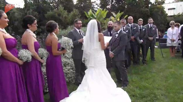 To był idealny ślub, gdzie wszystko było zapięte na ostatni guzik. Jednak to co się stało nie było w planie nowożeńców. Zobaczcie sami.