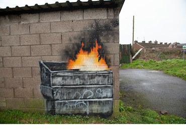 Graffiti Banksy'ego sprzedane. Cena? Kilkaset tysięcy funtów