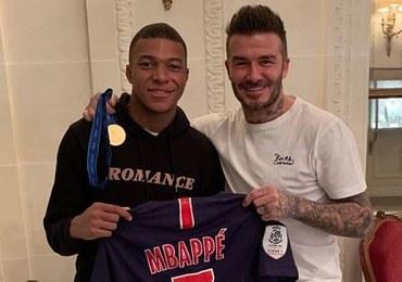 """Zjadł """"śniadanie z legendą"""" i… ustrzelił hattricka! Owocne spotkanie Mbappe i Beckhama"""