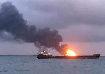 14 ofiar pożaru statków w Cieśninie Kerczeńskiej