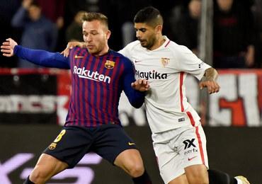 Puchar Hiszpanii: Porażka Barcelony z Sevillą w pierwszym meczu 1/4 finału