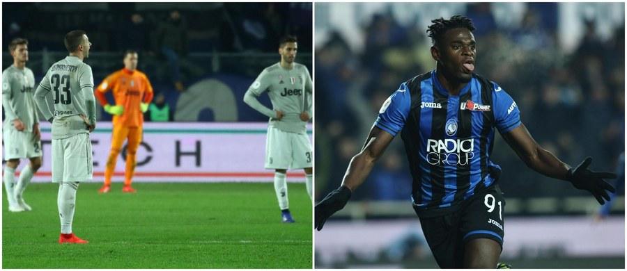 Z Wojciechem Szczęsnym w bramce i Cristiano Ronaldo w ataku Juventus Turyn niespodziewanie odpadł z rywalizacji o Puchar Włoch! W ćwierćfinale rozgrywek obrońcy trofeum przegrali w Bergamo z Atalantą 0:3.