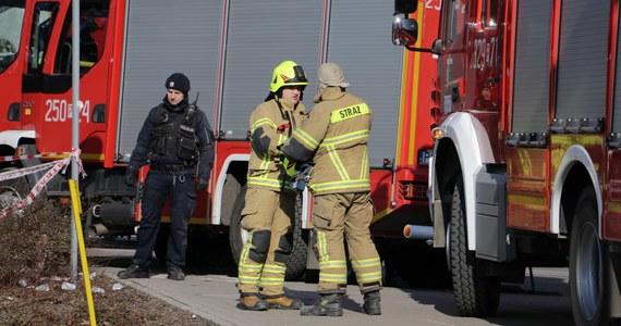 Wybuch gazu w domu mieszkalnym w Dominikowicach koło Gorlic w Małopolsce. Ranny został właściciel budynku - doznał poparzeń.