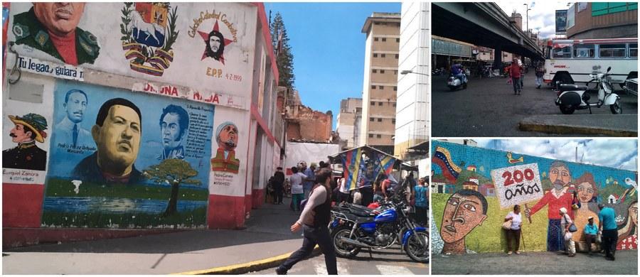 """""""Goście z zagranicy nie są tu mile widziani - i naprawdę da się to odczuć"""" - tak swoje pierwsze wrażenia po wylądowaniu w Caracas opisuje specjalny wysłannik RMF FM do pogrążonej w głębokim kryzysie politycznym i gospodarczym Wenezueli Patryk Michalski. Zwraca uwagę, że """"gołym okiem widać, że to miejsce, w którym brakuje niemal wszystkiego"""". """"Robienie zakupów w Caracas oznacza wizytę w co najmniej 2-3 sklepach. Po pierwsze po to, by porównać ceny, po drugie po to, by znaleźć te najpotrzebniejsze produkty. A czasami niestety tylko na nie popatrzeć… Najniższa miesięczna wypłata tutaj to mniej niż… 10 dolarów"""" - opowiada. Poznajcie jego relacje, zobaczcie filmy i zdjęcia!"""