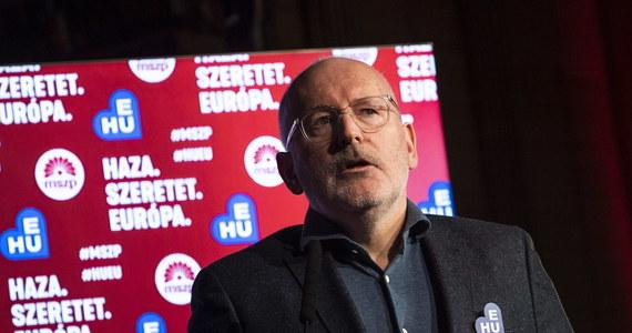 """Frans Timmermans ostrzega w Budapeszcie przed nacjonalistami. """"Chcą mieć kontrolę nad ludźmi, wykorzystując do tego strach"""" - mówił wiceszef Komisji Europejskiej - i wiodący kandydat europejskich socjalistów i demokratów w majowych wyborach do Parlamentu Europejskiego - na zjeździe Węgierskiej Partii Socjalistycznej."""