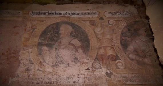 W trakcie prac remontowo-konserwatorskich w pałacu w Strudze na Dolnym Śląsku odkryto unikalne malowidła ścienne. Ściany dawnej sali balowej zdobią freski z okresu renesansu.