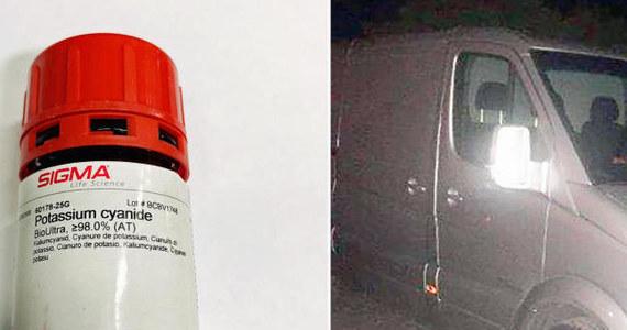 Norweska policja aresztowała dwóch Polaków, którzy ukradli vana transportującego trującą substancją. Cyjanek potasu miał trafić do laboratorium uniwersytetu w Oslo.