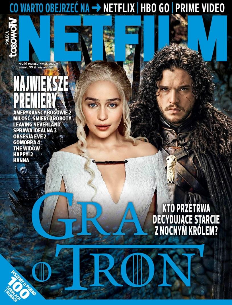 W siódmym numerze magazynu NETFILM (w sprzedaży od 5 marca) znajdziecie recenzje i  opisy ponad 100 filmów i  seriali dostępnych w  ofercie Netflix, HBO GO i  Amazon Prime Video.