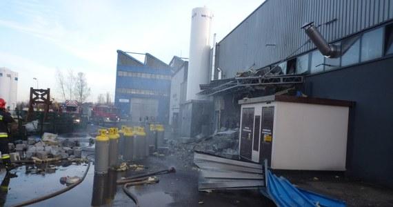 Potężny wybuch butli z gazem w zakładach przemysłowych w Mysłowicach. Nikt nie został poszkodowany.