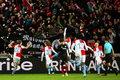 Efektowna oprawa przed meczem Slavia - Sevilla. Wideo
