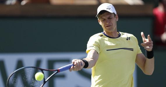 """""""To była dla mnie świetna lekcja"""" - powiedział po przegranym meczu ze Szwajcarem Rogerem Federerem polski tenisista Hubert Hurkacz. Polak dotarł do ćwierćfinału turnieju ATP w Indian Wells."""
