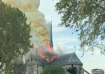 """""""To wyglądało strasznie"""". Relacja świadka z pożaru Notre Dame"""